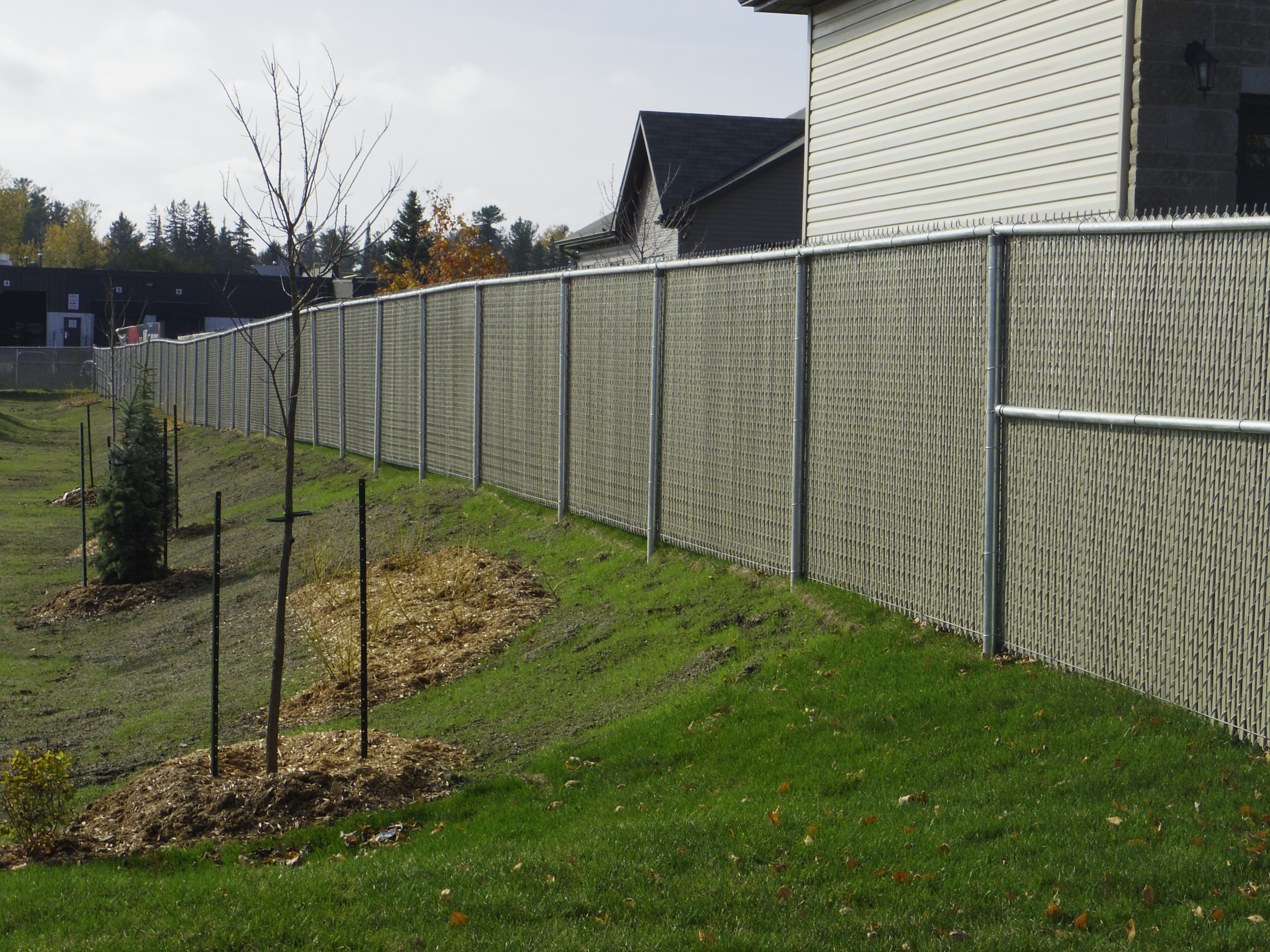 Privacy screen for chain link fence sears - Chain Link Fence Privacy Slats Ontario Our Customers